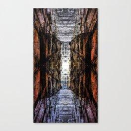 corner in overflown street Canvas Print