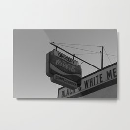 Black and White Grocery 2 Metal Print