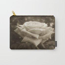 Pink Roses in Anzures 6 Antiqued Carry-All Pouch