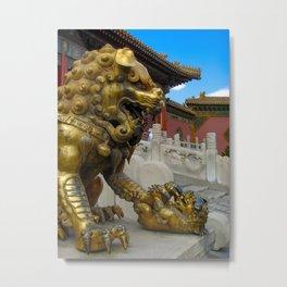 Mother Lion. Beijing Forbidden Palace. Metal Print