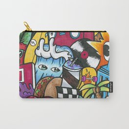 City Life Graffiti Wall Art Carry-All Pouch