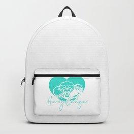 Cute Honey Badger Spirit Animal Heart Backpack