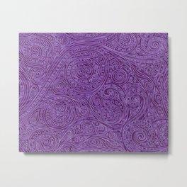 Lavender Spiral Pattern Metal Print