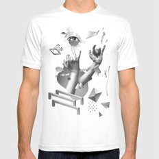 Hands White Mens Fitted Tee MEDIUM
