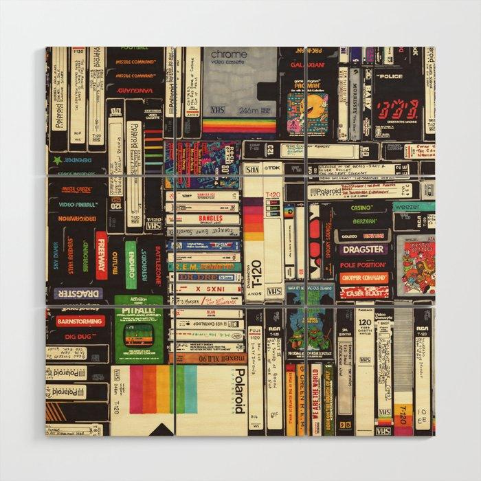 Cassettes, VHS & Games Wood Wall Art