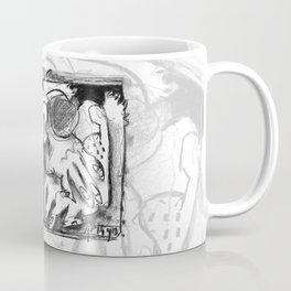 The Shaping of a Man - b&w Coffee Mug