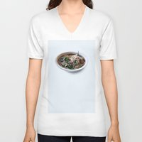 sriracha V-neck T-shirts featuring Pho by Oobites