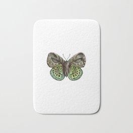 Green steampunk butterfly Bath Mat