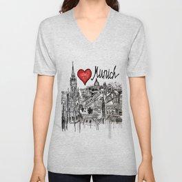 I love Munich Unisex V-Neck