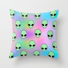 Aliens Tumblr Throw Pillow