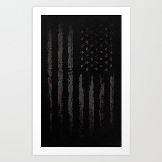 Black American flag by mydream