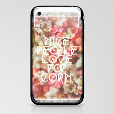 Nice People Love Popcorn iPhone & iPod Skin