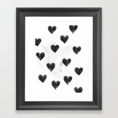 I drew a few hearts for you Framed Art Print