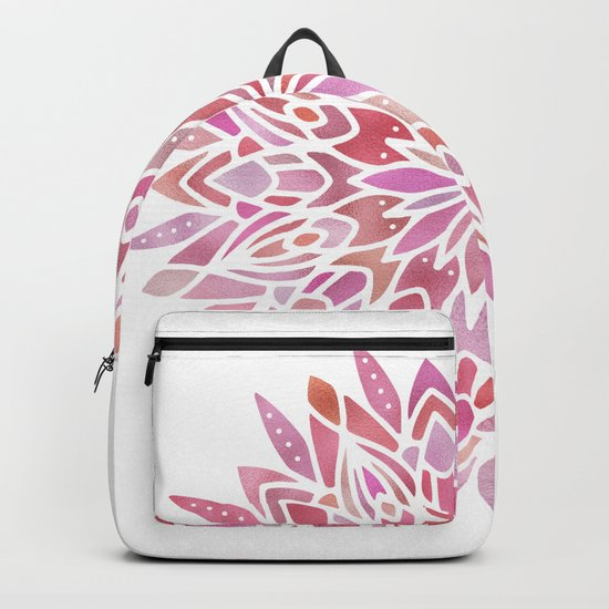 Mandala Pink Gold Backpack
