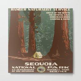 Vintage poster - Sequoia National ParkX Metal Print