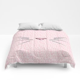 Crazy Cat Lady (Meow Meow Meow Pattern) Comforters