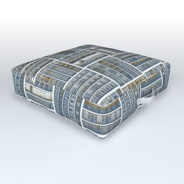 The Bookish Checkerboard Outdoor Floor Cushion
