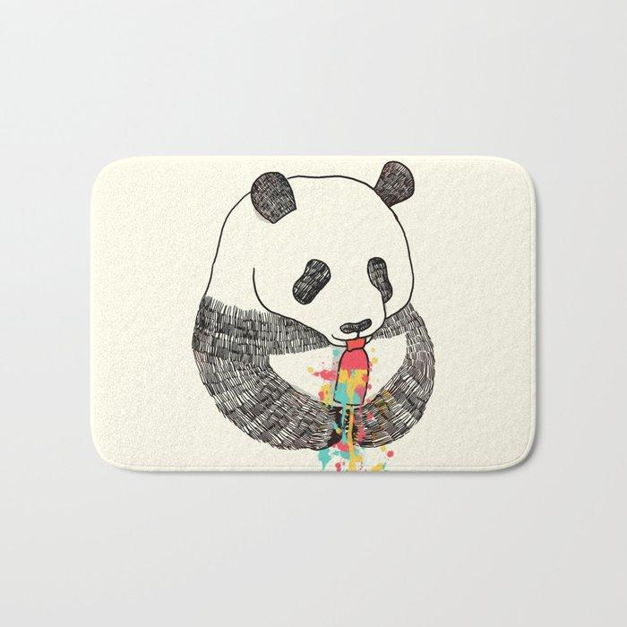 Panda Loves Ice Cream Bath Mat