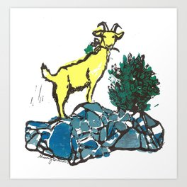 Goatie McGoatersons (colored version) Art Print