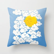 Cloud Control Throw Pillow