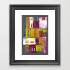 Pink Village Framed Art Print
