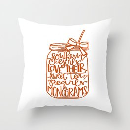 Southern Girls Throw Pillow