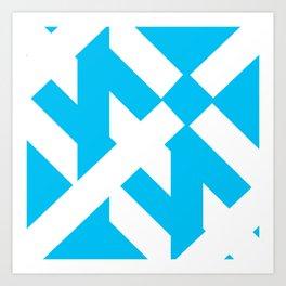 Funky Shapes Art Print
