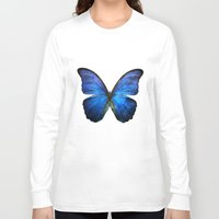 butterfly Long Sleeve T-shirts featuring butterfly  by mark ashkenazi