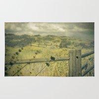 plain Area & Throw Rugs featuring I'm on a plain by Rachel Bellinsky