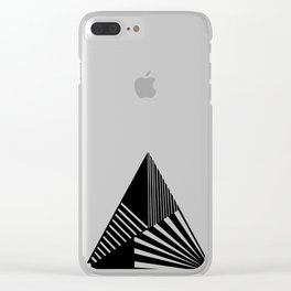 Abstract Mountain Clear iPhone Case