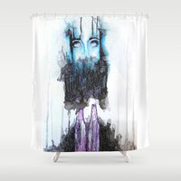 alcohol Shower Curtains featuring Alcohol dependence by laurensmorin