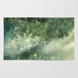 The green background .Storm . Rug