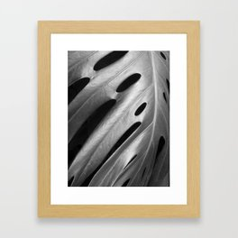 Monstera leaf tropical art Framed Art Print