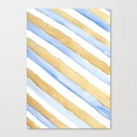 stripe Canvas Prints featuring Stripe by Louise Kjeldsen