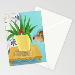 Mavis in the Living Room Stationery Cards