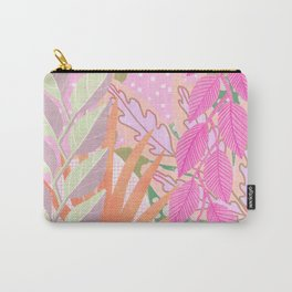 Modern Jungle Plants - Pink Green Purple Carry-All Pouch