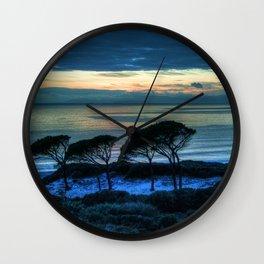 Sardinia, the beach at dusk Wall Clock