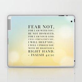 Isaiah 41:10 Bible Quote Laptop & iPad Skin
