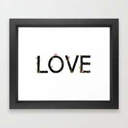 LOVE in bloom Framed Art Print
