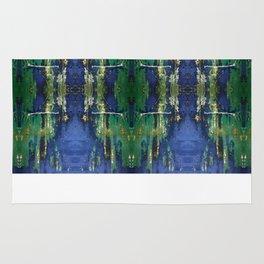 Blue and Green Rug