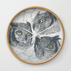 Three Owls Wall Clock