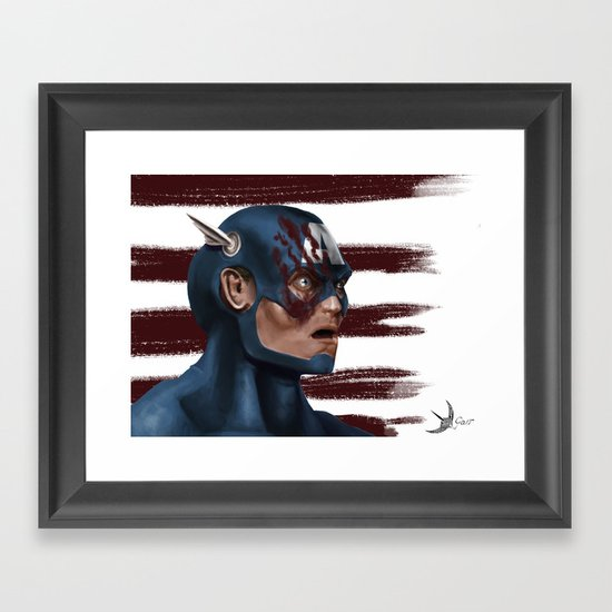 THE FACE COLLECTION - CAPTAIN AMERICA Framed Art Print
