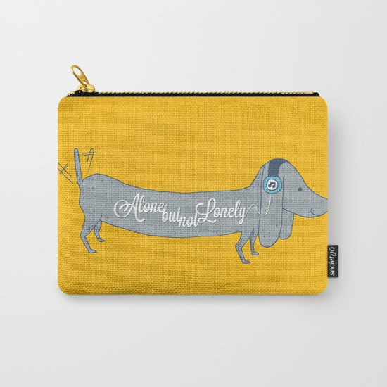 Alone but not Lonely Carry-All Pouch