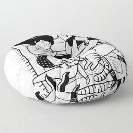 Beautiful and strong women. Floor Pillow