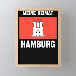 Hamburg logo flag coat of arms flag gift Framed Mini Art Print