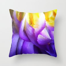 Dahlia One - The Painted Throw Pillow