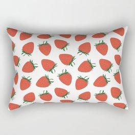 Strawberry Red Pattern Rectangular Pillow