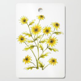 Yellow black eyed Susans painting Cutting Board