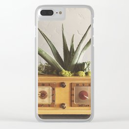 Succulent Stereo Clear iPhone Case