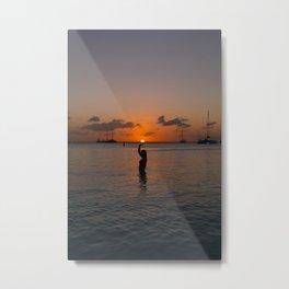 Holding the Sun Metal Print
